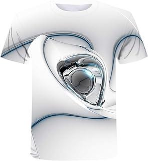 تي شيرت للرجال 3D Heavy Metal T-shirt Punk Music Festival Rock T-shirt Men's Printed Casual T-shirt O Neck Hip Hop Short S...