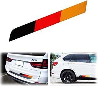 iJDMTOY 17 by 2-Inch Reflective Germany Flag Stripe Decal Sticker for Audi BMW Mercedes Mini Porsche Volkswagen Exterior Cosmetic, Such As Trunk, Side Skirt, Bumper, etc