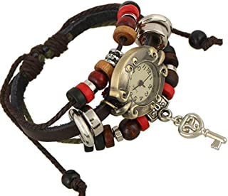 Stylish watch Personalized Bracelet Multi Strands Adjustable Bracelets for Ladies Personalized Tribal Braided Rope Cuff Bangle Beaded Watch Watch