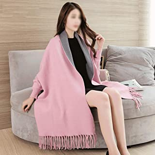 WZHZJ Oversize Out Wear Scarf Winter Knitted Poncho Women Solid Design Cloak Female Long Batwing Sleeves Coat Vintage Shawl
