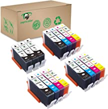 Supricolor Replacement 564 Ink Cartridges, Compatible Ink for HP 564XL 564 XL Work with Photosmart 7520 5520 6520 6510 7510 7515 C310a DeskJet 3520 3522 (6Black 3 Cyan 3 Magenta 3 Yellow) 15 Pack
