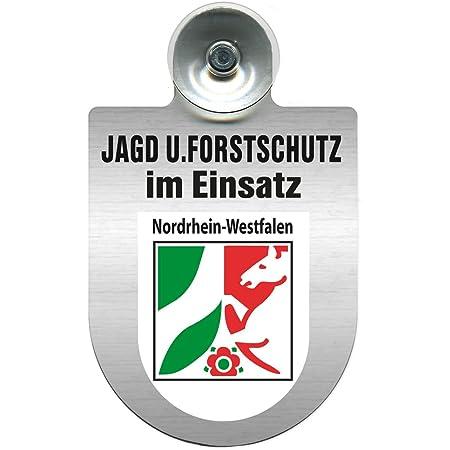 Einsatzschild Für Windschutzscheibe Incl Saugnapf Jagd Forstschutz Im Einsatz