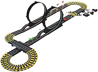 COLORTREE R/C Award Winning Tracer Racers Speedway Slot Car Race Track Set for Boys Remote Control Infinity Loop Track Set with Two Cars for Dual Racing