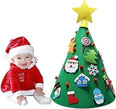 Sun Flower F1 3D DIY Felt Christmas Tree Toddler Friendly Christmas Tree Hanging Ornaments Kids Xmas Gifts Christmas Home Decorations