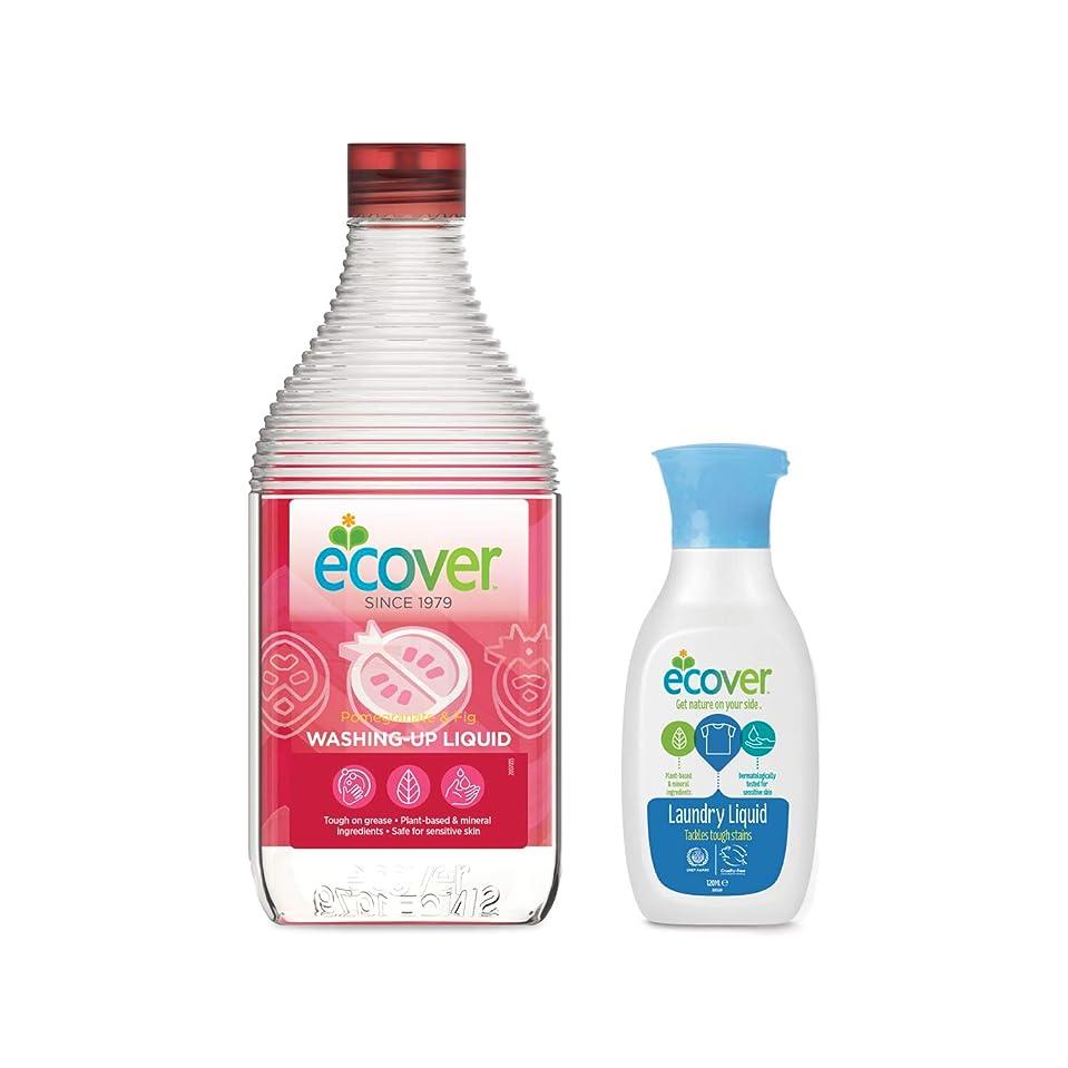 薄める寛解主導権エコベール 食器用洗剤 ザクロ 450mL 洗濯用洗剤ミニボトル付き