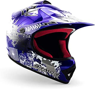 <h2>ARMOR Helmets AKC-49 Kinder-Cross-Helm, Schnellverschluss Tasche, S 53-54cm, Blau</h2>
