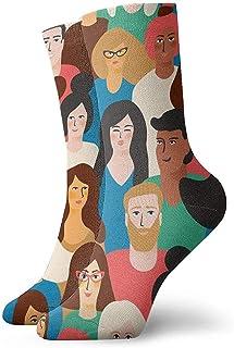 Kevin-Shop, Calcetines Coloridos de Tobillo de Cara de Dibujos Animados Calcetines Casuales y acogedores para Hombres, Mujeres, niños