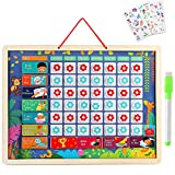 Lewo Magnetic Responsibility Chart Developmental Toys Encourages Good Behavior Preschool Educational & Learning Wooden Toy Graduation Gifts for Toddlers Boys Girls