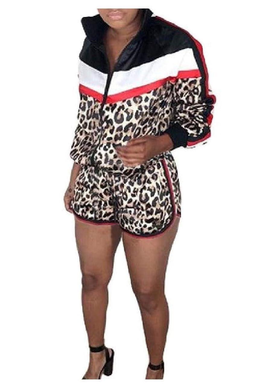 怒っているうまくやる()アノイTootess 女性スタイリッシュな花柄ステッチトラックスーツトップスポーツバギーパンツの衣装