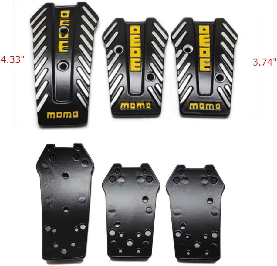 Black Accelerator Gas Pedals Auto Aluminum Anti-Slip Accelerator Pedals Brake Foot Pedal Pads