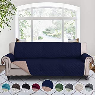 RHF Reversible Cover for Extra-Wide Couch, Sofa Cover, Extra-Wide Couch Cover for Dogs, Extra-Wide Couch Covers for Pets, Couch Slipcover, Machine Washable (Sofa-Extra Wide: Navy/Sand)