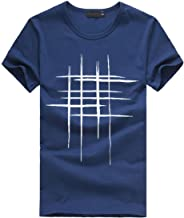 Realdo Mens Casual Short Sleeve T-Shirt Pure Color Print Tee