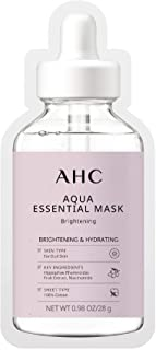 AHC Face Mask Aqua Essentials Hydrating and Brightening For Dull Skin 100% Cotton Sheet 5 Count