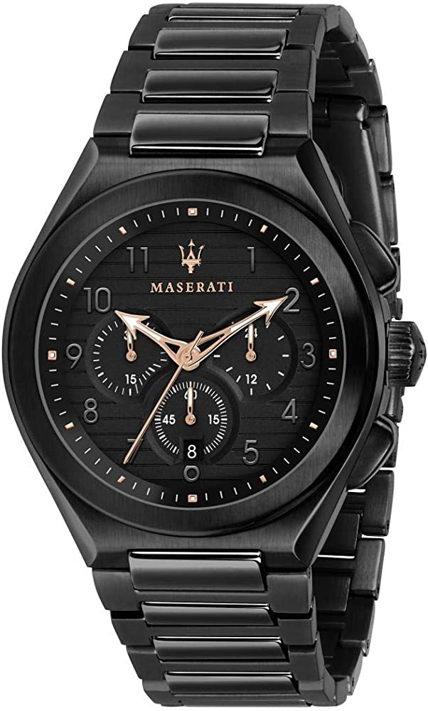 Maserati orologio cronografo da uomo, collezione triconic in  acciaio inossidabile 8033288880349