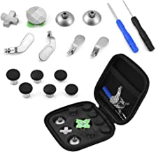 Zerone Controller Replacement Kit for PS4, 15 in 1 Thumb Stick Cap Magnetic Button Paddles Screwdrivers Replacement Parts Kit for PS4/Xbox One