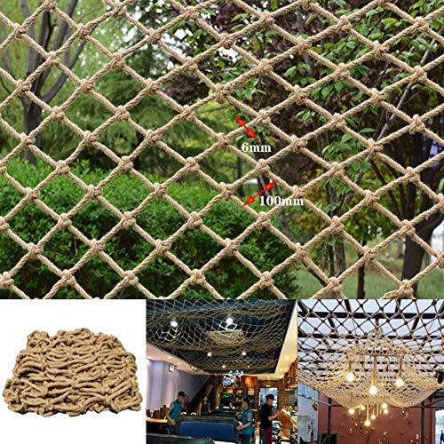 JRY Red de Seguridad para niños, Red de Cuerda de cáñamo, Redes de Malla para decoración de Paredes con Fotos, Red de Cuerda de Escalada, Escalera de Cuerda de Carga