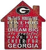 Fan Creations NCAA Georgia Bulldogs Unisex University of Georgia House Sign, Team Color, 12 inch