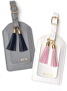 Mr. & Mrs. Luggage Tags with Tassels, 2 Count
