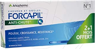 New: Forcapil Anti Hair Loss - Two months cure + 1 month for free