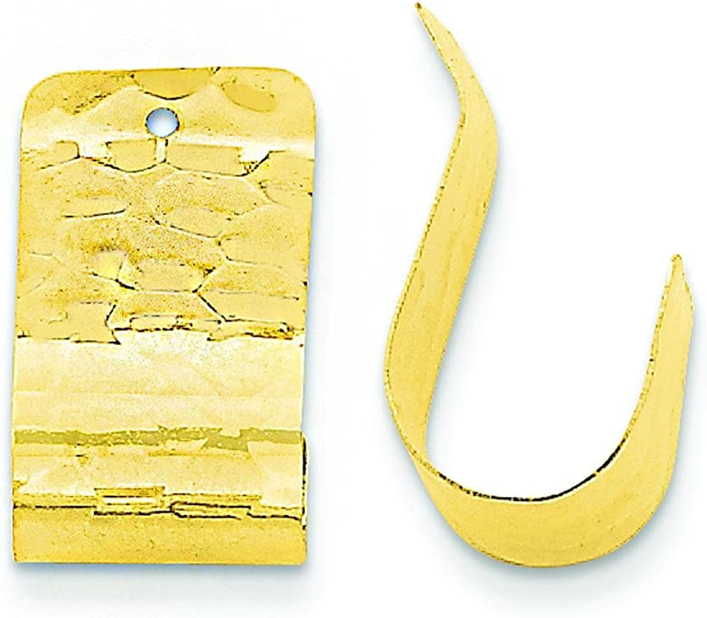 14K Yellow Gold Hammered Earring Jackets Ear Jewelry
