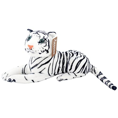 Snuggly White Tiger Long Animal Hat Kids