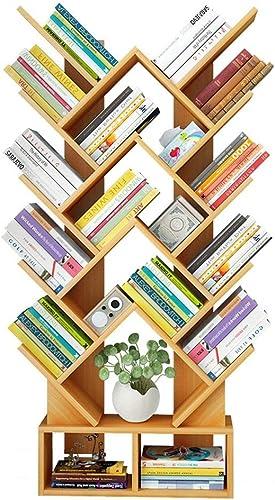 Bücherregal aus Holz Kreatives herzf iges Bücherregal für Arbeitszimmer - Walnuss, WeißRegalst er zur Aufbewahrung von Holzregalen