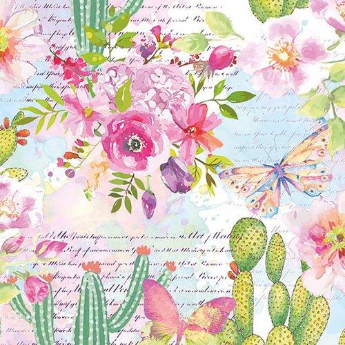 Ambiente SERVILLETAS 33x33cm 20 UD Cactus Y Rosas