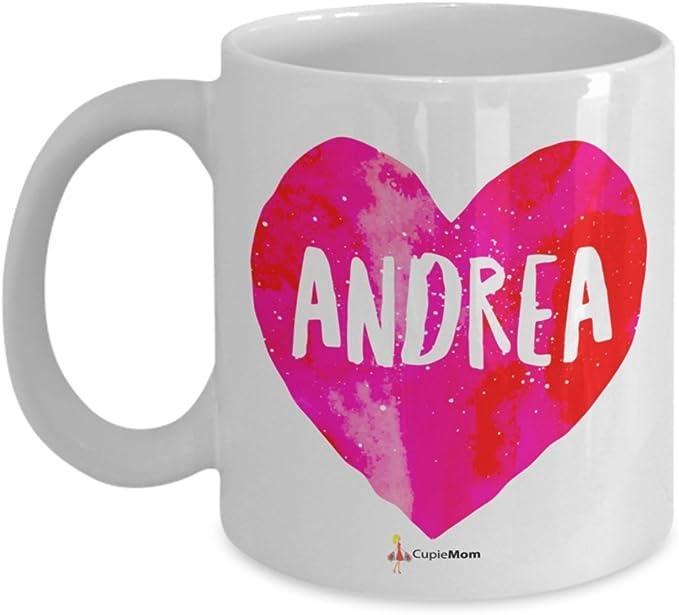 Andrea - Name Pink Heart Mug