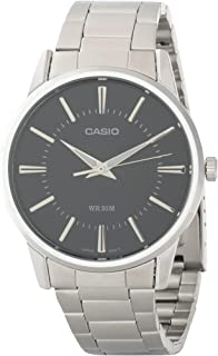 Casio His & Her Black Dial Stainless Steel Band Couple Watch [Mtp/Ltp-1303D-1A], Analog Display