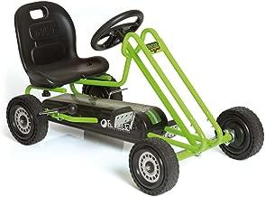Hauck Lightning - Pedal Go Kart | Pedal Car | Ride On Toys For Boys & Girls With Ergonomic Adjustable Seat & Sharp Handling - Race Green