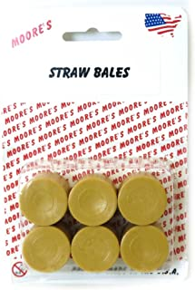Moores Farm Toys 1/64 6 Pack of Round Straw Bales Plastic