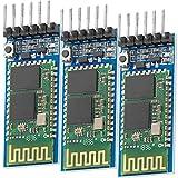 AZDelivery HC-05 HC-06 Modulo Bluetooth Wireless Modulo ricetrasmettitore RF RS232 seriale compatibile con Arduino incluso E-Book!