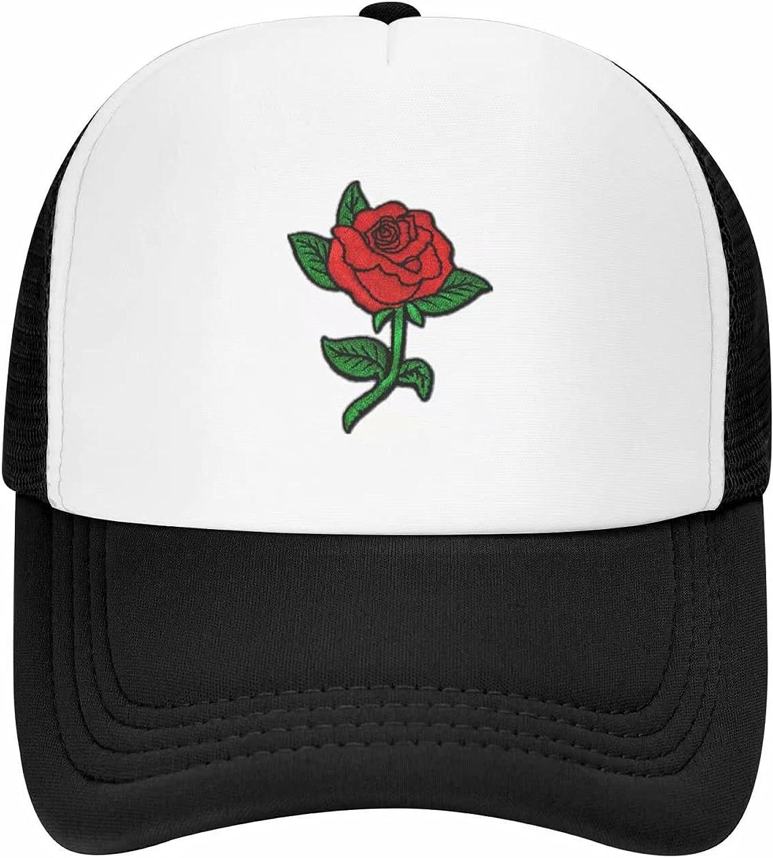 Rose Hat Vintage Mesh Hat - Classic Washed 100% Polyester Adjustable Mesh Cap for Men and Women