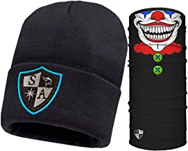 S A Fleece Beanie Combo Pack - 1 SA Beanie and 1 Frost Tech Thermal Fleece Face Shield