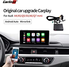Carlinkit Carplay Android Auto Smart Receiver Box for Audi A4/Q5/A5/S5/A6/Q7 Factory Screen Upgrade(Support Google&Waze maps,Mirroring)