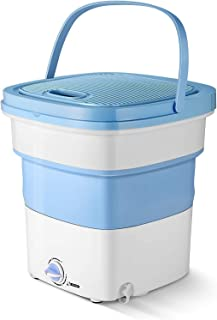 EMORE Mini Foldable Washing Machine Portable Compact Ultrasonic Small Automatic Cleaning Washer with Capacity of 2 kg for ...