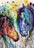 CloudShang Salon de Decoracion De la Lona Arte Pintura Caballo Pared Arte Cuadro Animal Acuarela Poster Moderno Caballo Salon Recamara Oficina Pared Caballo Impresiones I14042