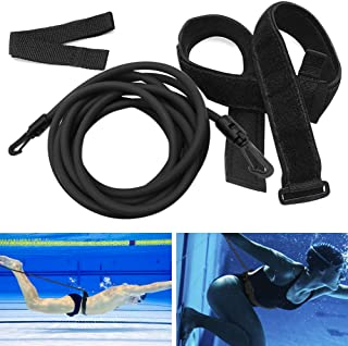 Kenoucle Swim Training Belts Swim Bungee Cords Resistance Bands Swim Tether Stationary Swimming, Swim Harness Static Swimming Belt