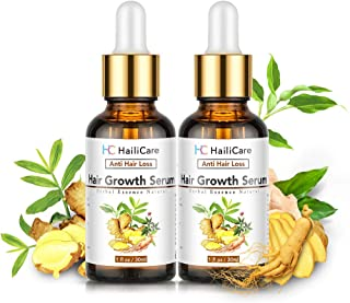 2 Pack Hair Growth Serum, 30ml Ginger Essential Oil, Anti Hair Loss Serum, Hair Loss Treatment for Thinning Balding Hair, ...