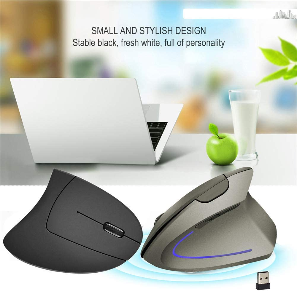Aceyyk Vertical Wireless Mouse,Mouse Ergonomic Vertical Wireless Mouse 2400 DPI Wireless Mice 2.4Ghz for Notebook PC Laptop Computer