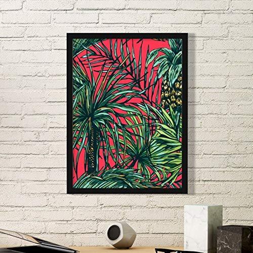 DIYthinker Ananas Plant Blad Rode Hemel Eenvoudige Fotolijst Kunst Prints Schilderijen Thuis Muursticker Gift