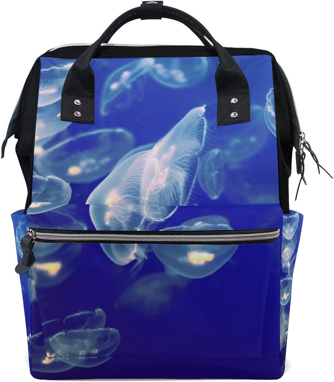 FANTAZIO Backpacks Jellyfishes School Bag Canvas Daypack