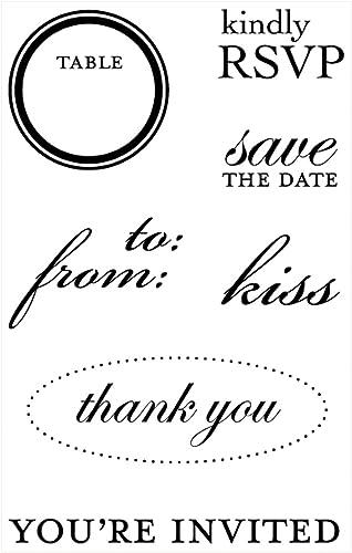 Esperando por ti Juego de sellos de la memoria memoria memoria - invitación de boda  venta
