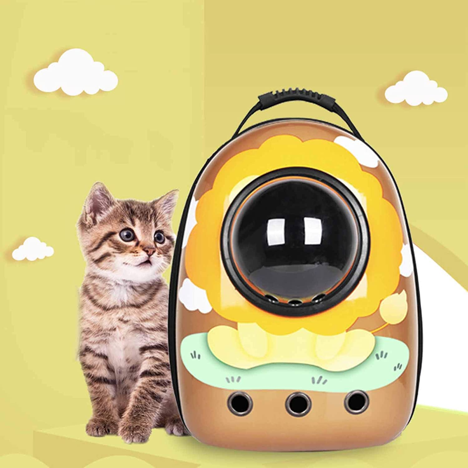 Pet Backpack Waterproof Breathable Adjusta Cover Transparent El Paso Mall Long-awaited