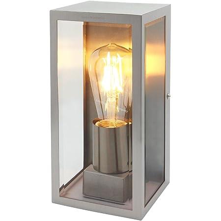 Rectangular Glass Outdoor Wall Light Lantern Stainless Steel Body ZLC083