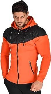 Kapşonlu Rüzgarlık Kumaş Slim Fit Uzun Kesim Spor Ceket Stilya *3616*
