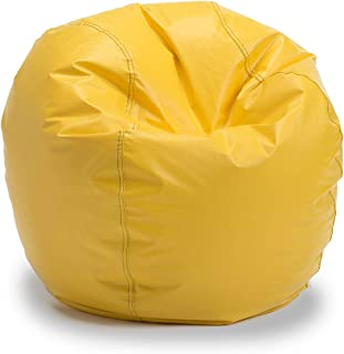 Bigger and Better! Child Size Bean Bag Chair (Yellow), 100% American Made