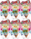 7th Heaven Dead Sea Hard Drying Mud Face Mask (x6 pack) with Pressed Lavender, Seaweed and Crushed Dead Sea Salt for Deep Pore Cleansing, Ideal for Normal, Combination and Oily Skin1
