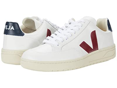 VEJA V-12 (Leather Extra White/Marsala/Nautico) Men