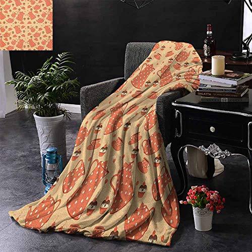 ZSUO bank deken kruidenthee pot met verse kruiden salie pepermunt en kalk op rustieke houten planken comfortabel zacht materiaal, geven u een geweldige slaap